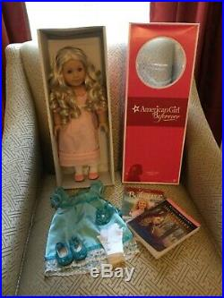American Girl Caroline Doll Box 2 Books, Iimited Edition Party Outfit