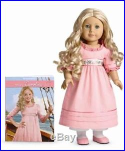 American Girl Caroline Doll & Extra Blue Party Gown Dress Outfit New In Box