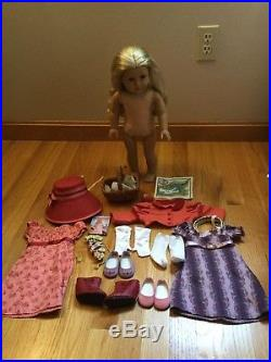 American Girl Caroline Lot Travel Outfit and Spencer Jacket, Holiday Gown Basket