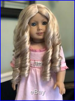American Girl Caroline, Retired 2015, Blonde Hair, Green Eyes, Outfit EUC