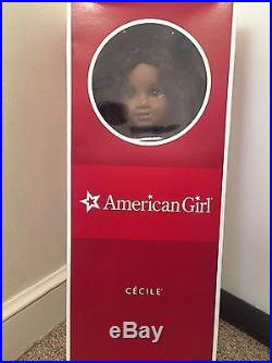 American Girl Cecile RETIRED +Let's Celebrate birthday tee + 2 Outfits
