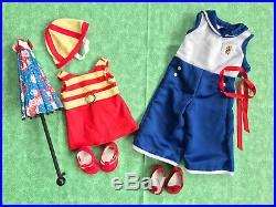 American Girl Clothing Lot Kit Kittredge Retired Beach Pajamas & Swim Outfit