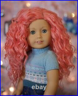 American Girl Custom Fairy Princess Doll Peach Pink Hair With Outfit