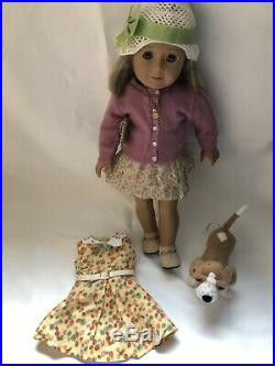 American Girl Doll 18 Kit Kittredge Meet Outfit Accessories Dress Dog Grace Lot