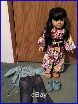American Girl Doll Asian Doll with almond eyes, JLY #4, with outfit