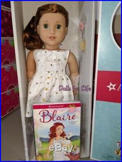 American Girl Doll Blaire Wilson & Blaire's Gardening Outfit NEW IN BOX + extra