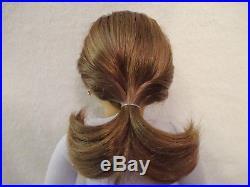 American Girl Doll Brown Hair Blue Eyes Freckles Earrings + Extra Outfit-nib