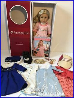 American Girl Doll Carolina With Outfits And Accessories Lot Euc