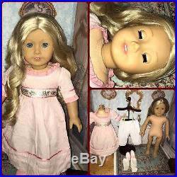 American Girl Doll Caroline Abbott Doll Green EyesOriginal Meet OutfitDress
