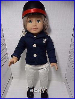 American Girl Doll Caroline Blond Hair Blue Eyes Clothes 6 Outfits Shoes Hats