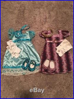 American Girl Doll Caroline Huge Lot 4 Outfits/ Accessories/ All Original Books