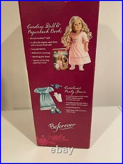 American Girl Doll Caroline NEW With Extra Blue Gown Outfit