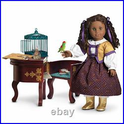 American Girl Doll Cecile's Parlor Outfit Desk Fancy Boots NEW