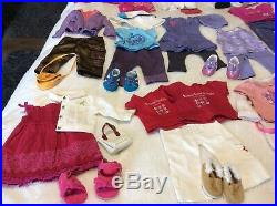 American Girl Doll Clothes And Shoes HUGE 30 OUTFITS Lot Gently Used Condtion
