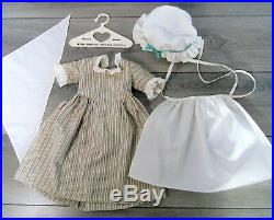 American Girl Doll Clothes FELICITY WORK GOWN Outfit Dress Cap Apron & Kerchief