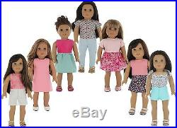 American Girl Doll Clothes Wardrobe Makeover- 7 Complete Outfits Fits 18 Dol