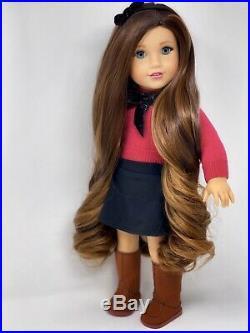 American Girl Doll Custom CYO Grace, Blue eyes, Winter Outfit, Caramel Curls