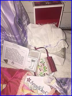American Girl Doll Elizabeth & Felicity Riding Outfit Nightgown Dresses Box LOT