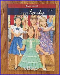 American Girl Doll Emily in meet outfit with Book (retired)