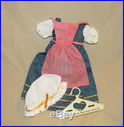 American Girl Doll FELICITY Town Fair Outfit Dress Apron Bonnet Pleasant Company