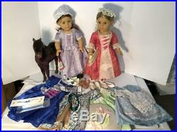 American Girl Doll Felicity and Elizabeth with several outfits plus Pony