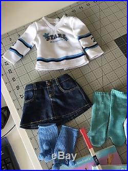 American Girl Doll GOTY Mia Ice Skater 4 Outfits LOT 2008