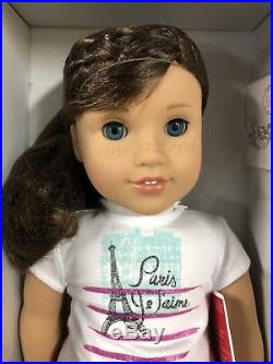 American Girl Doll GRACE THOMAS GOTY Meet Outfit Bracelet Brown Hair Blue Eyes