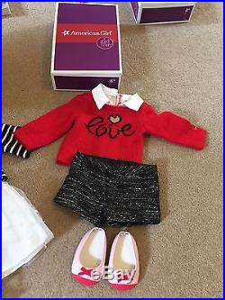 American Girl Doll Grace Thomas, City Outfit, Sightseeing, Bonbon Dog, Book