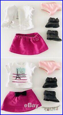 American Girl Doll Grace Thomas Lot Paris Opening Night Outfit Beret Welcome Set
