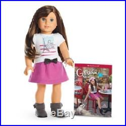 American Girl Doll Grace Thomas Welcome Gifts Baking Outfit Earrings NEW