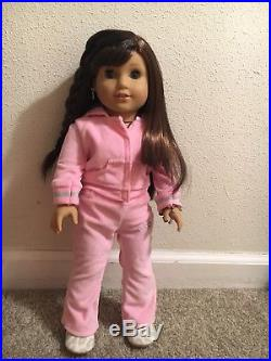 American Girl Doll Grace with Earrings 2015 Excellent Condition + 3 Outfits + More
