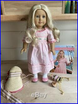 American Girl Doll Historical Caroline With Meet Outfit And Accessories RETIRED