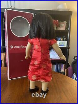 American Girl Doll Ivy 18 Inch Retired Asian American With Box And Two Outfits