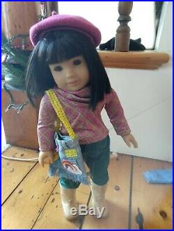 American Girl Doll Ivy + book & outfits EUC