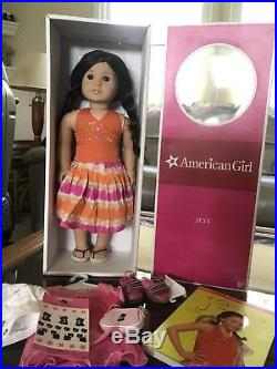 American Girl Doll Jess Retired Girl Of The Year 2006 And Flower Power Outfit