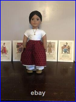 American Girl Doll Josefina, In Meet Outfit & 4 Books Historical 1990s Version