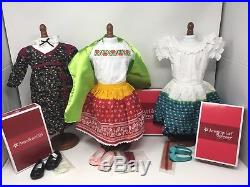 American Girl Doll Josefina with 3 Brand NEW Outfits Feast Fiesta Festival NIB