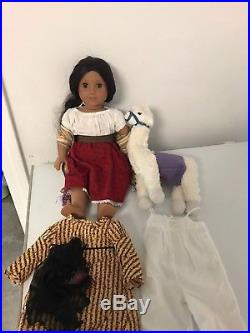 American Girl Doll Josefina with Holiday Outfit and Llama