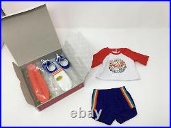 American Girl Doll Julie 2015 Special Edition Skateboarding Outfit Skater New