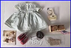 American Girl Doll KIRSTEN'S Summer Dress Outfit With Accessories Honey 4th July