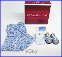 American Girl Doll KIT'S PLAY SUIT OUTFIT Bunny Jumper Hair Bow Shoes Socks BOX
