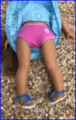 American Girl Doll Kanani, Excellent, Meet Outfit, Tight Legs, Long Hair