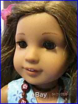American Girl Doll Kanani Gently Preowned Complete Meet Outfit, Book and Box RARE