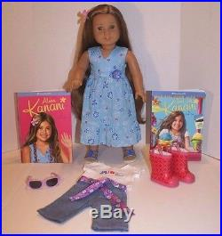American Girl Doll Kanani Girl of the Year 2011 Meet Outfit, Aloha Outfit, Books