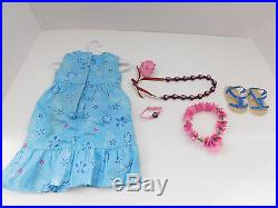 American Girl Doll Kanani Meet Outfit Flower Necklace Sandals Dress