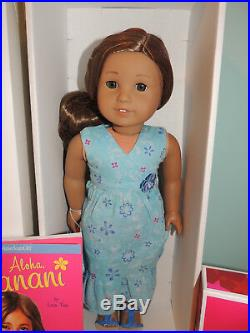 American Girl Doll Kanani New Head + Meet Outfit Book Pajamas Necklace Clip