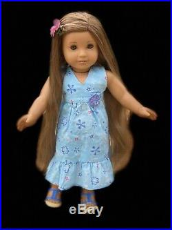American Girl Doll Kanani Tight Legs, Meet Outfit, Rare Flower Clip