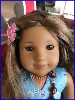 American Girl Doll Kanani With Box And Book And Meet Outfit