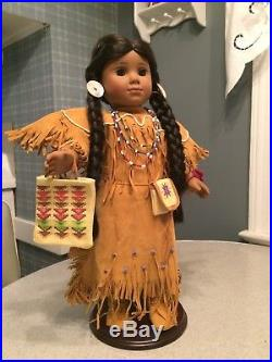 American Girl Doll Kaya, First Edition 2002, with stand, outfit, accessories