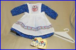 American Girl Doll Kirsten Baking Outfit Dress Apron Clogs Hanger Retired